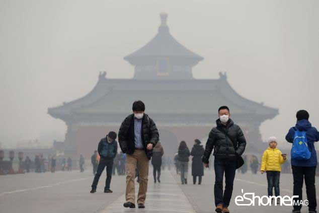 مجله خبری ایشومر Air-Pollution-in-China-mag-eshomer آلودگی هوا در چین باعث تعطیلی کارخانه ها شد سبک زندگي سلامت و پزشکی  هوا کارخانه سرطان ریه چین تعطیلی پکن آلودگی هوا آلودگی