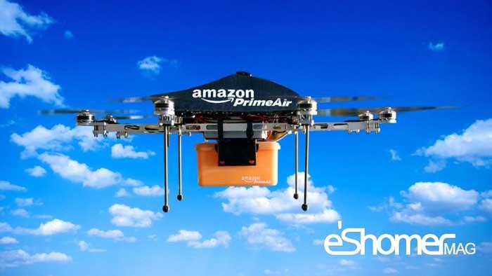 مجله خبری ایشومر Amazon-drone-mag-eshomer طرح جدید آمازون برای انبار های سیار هوایی خود سبک زندگي  هوایی هوابرد غول طرح سیار جدید پیکر پهپهاد انبار آمازون Tech Crunch