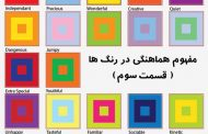 مفهوم چگونگی هماهنگی ، در رنگها ( قسمت سوم )