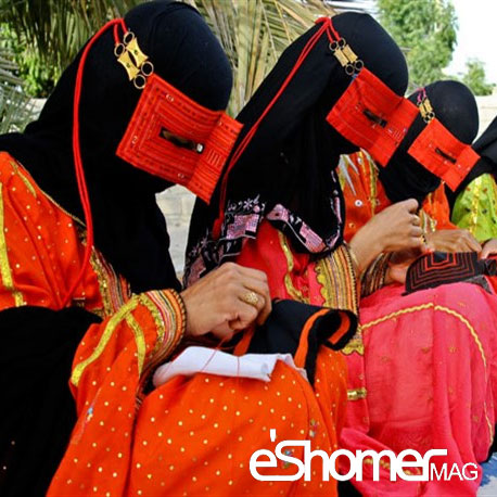 مجله خبری ایشومر Burqa-niqab-burqa-ladys-gown-Hormozgan-and-its-variants-mag-eshomer برقعه یا برقع نقاب پوششی بانوان هرمزگان و انواع آن مد و پوشاک هنر  هرمزگان نقاب فارس خلیج پوششی برقعه برقع بانوان انواع آن