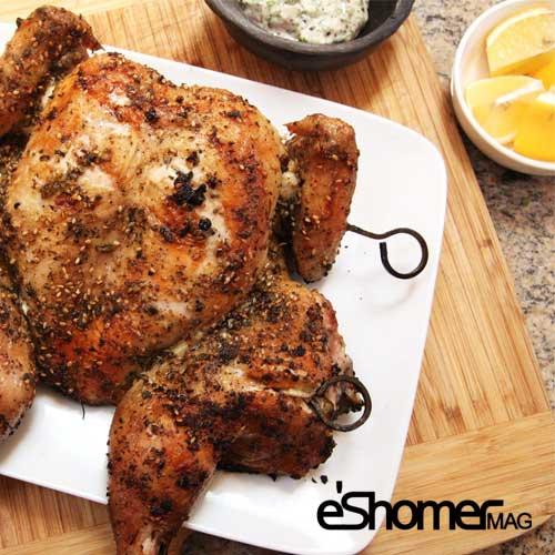 مجله خبری ایشومر grilled-chicken-mag-eshomer طرز تهیه مرغ گریل شده آشپزی و غذا سبک زندگي  مرغ گریل کبابی طرز شده تهیه