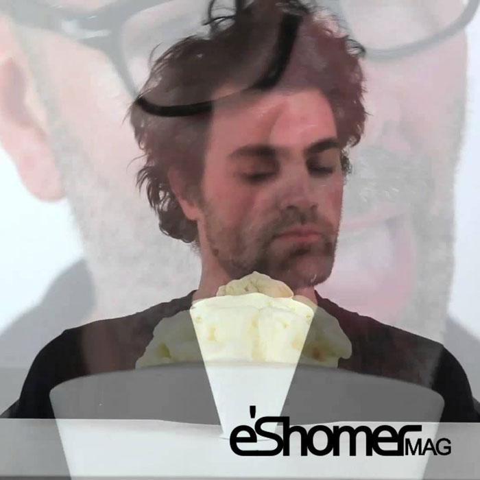 بستنی الکتریکی که در زمان لیس زدن تولید موسیقی می کند