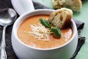 تهیه و پخت انواع غذاهای ایتالیایی سوپ گوجه فرنگی با خامه