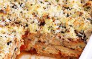 تهیه و پخت انواع غذاهای ایتالیایی – بادنجان پخته و گوجه فرنگی