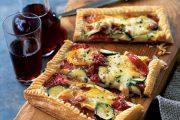 تهیه و پخت انواع غذاهای ایتالیایی – تارت پنیر موزارلا با پیاز