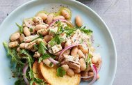 تهیه و پخت انواع غذاهای ایتالیایی – سالاد لوبیا سفید با تن ماهی