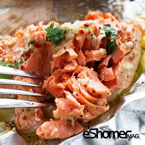 تهیه و پخت انواع غذاهای ایتالیایی _ ماهی سالمون با سس لیمو و ریحان
