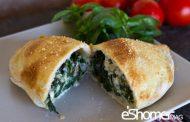تهیه و پخت انواع غذاهای ایتالیایی _ کالزونه ی اسفناج و پنیر ریکوتا