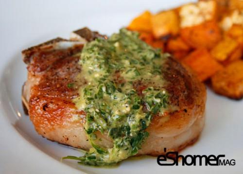 تهیه و پخت انواع غذاهای ایتالیایی _ گوشت بره با سس پستو نعناعی