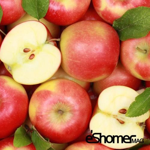 کاهش کلسترول خون با خوردن میوه سیب