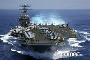 پهپاد ایران باعث اختلال در فرود یک جت بر روی ناو آمریکا