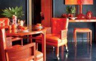ایجاد هیجان در طراحی داخلی به وسیله رنگ نارنجی