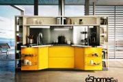 استفاده رنگ زرد برای آشپزخانه در طراحی داخلی