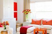 استفاده از رنگ نارنجی در اتاق نشیمن در طراحی داخلی