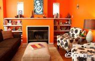 رنگ نارنجی تیره و ایجاد فضاهای دنج و پر حرارت در طراحی داخلی