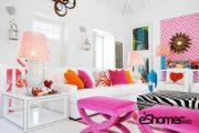 ایجاد هماهنگی در خانه با رنگ نارنجی ، صورتی و قرمز در طراحی داخلی
