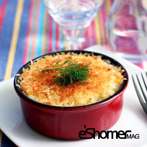 مجله خبری ایشومر cauliflower-gratin-mag-eshomer 3 خوراک خوشمزه و ساده که می توان با گل کلم تهیه نمود آشپزی و غذا سبک زندگي گل کلم گراتینه گل کلم غذا سوپ گل کلم خوراک ساده اردوور