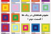 مفهوم چگونگی هماهنگی ، در رنگها ( قسمت دو م )