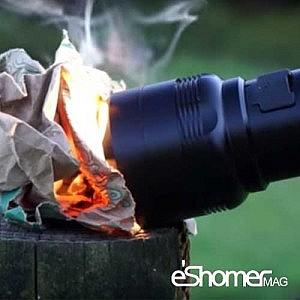 چراغ قوه Flash torch mini با امکان روشن کردن آتش