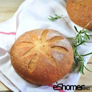 تهیه و پخت انواع غذاهای ایتالیایی نان روغن زیتون با پنیر پکورینو