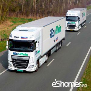 حرکت کاروانی کامیونهای هوشمند با شعار truck to truck