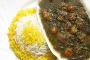 معرفی نحوه پخت مشهورترین غذاهای محلی سنتی ایران – خورش آلو اسفناج