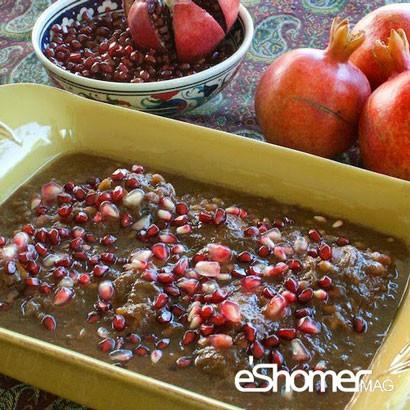 معرفی نحوه پخت مشهورترین غذاهای محلی سنتی ایران _ خورش انار آویج