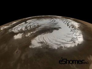 شب ها آسمان مریخ برفی می شود