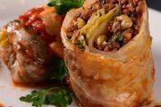 غذاهای محلی غذاهای ایرانی آموزش آشپزی دلمه کلم تبریز