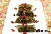 غذاهای محلی غذاهای ایرانی آموزش آشپزی دلمه برگ مو