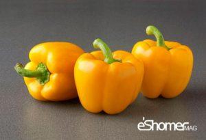 فلفل دلمهای زرد و نارنجی، عینک آفتابی طبیعی