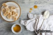 ماسک موز ، عسل و ماست مناسب برای پوست چرب