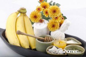 ماسک موز ، عسل و بلغور در درمان خشکی پوست