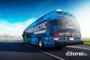اتوبوس تمام برقی آمریکایی که اگزوز آن با آب کار می کند