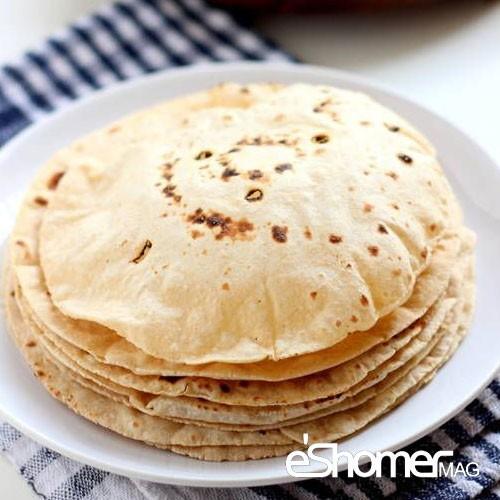 پخت آسان چند مدل نان در خانه – نان چپاتی یا نان هندی